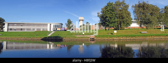 Daresbury research lab & research centre pano, Warrington, Cheshire, England, UK - Stock Image
