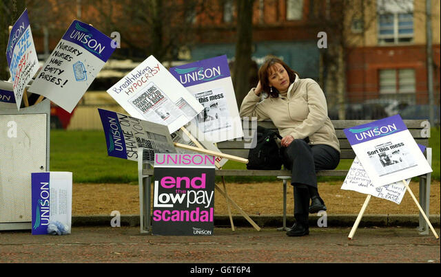 Scottish nurses protest rally - Stock Image