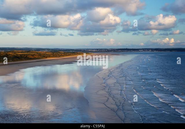 Saunton Sands and Braunton Burrows. Devon. England. UK. - Stock Image