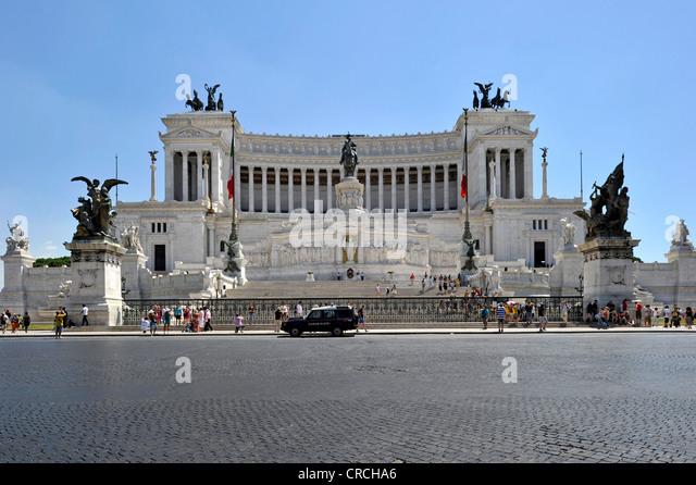 Italian National Monument to King Vittorio Emanuele II, Piazza Venezia, Rome, Lazio, Italy, Europe - Stock Image