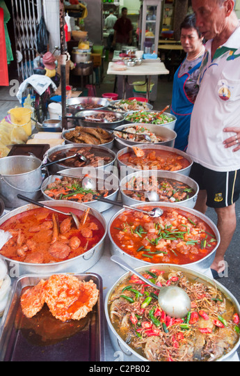 food vendor at one of the delicious markets in Penang Malaysia - Stock ...