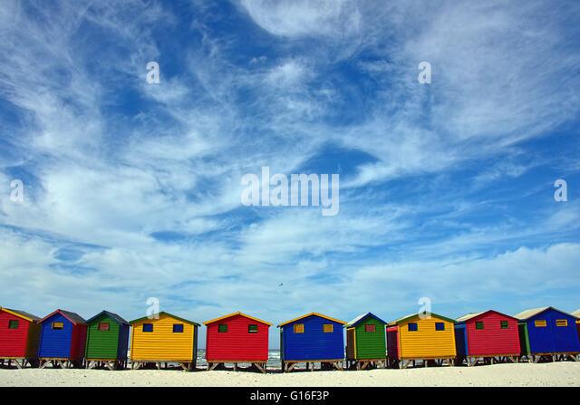 Muizenberg Beach Houses - Stock Image