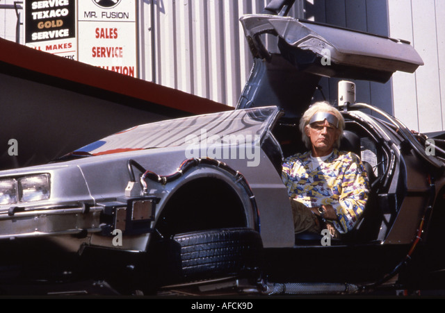 BACK TO THE FUTURE 2 Christopher Lloyd in the 1989 film - Stock Image