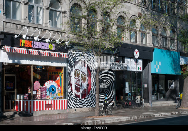 Boulevard Saint Laurent Montreal Quebec - Stock Image