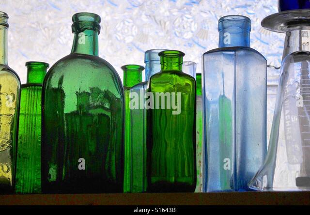 Glass bottles - Stock Image