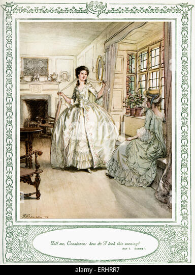 a critique of the play she stoops to conquer by oliver goldsmith Complete summary of oliver goldsmith's she stoops to conquer enotes plot summaries cover all the significant she stoops to conquer summary in she stoops to she stoops to conquer is a perfect example of goldsmith's theories the play opens with two gentlemen from london looking for.