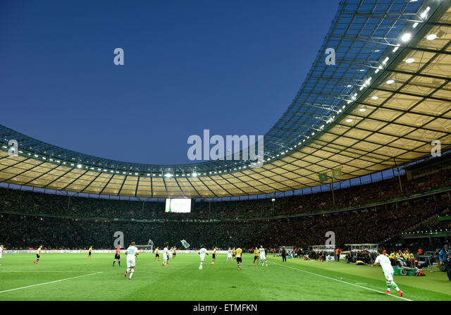 DFB Cup final 2015, Olympic Stadium in the evening, Berlin, Germany - Stock-Bilder