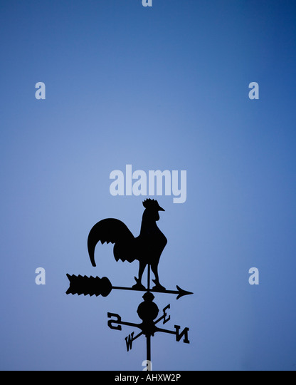 Weather vane with rooster - Stock Image