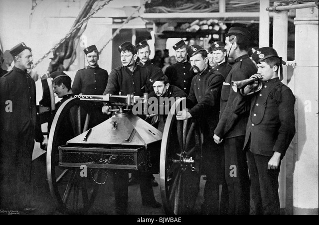 Repel boarders exercise, Sheerness Gunnery School, Kent, 1896. - Stock Image
