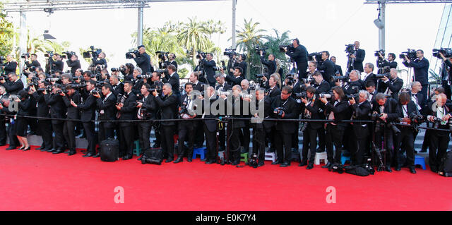 RED CARPET PHOTOGRAPHERS MR. TURNER PREMIERE 67TH CANNES FILM FESTIVAL CANNES  FRANCE 15 May 2014 - Stock Image