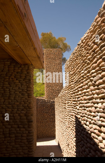 Chile Atacama Desert  san pedro de atacama town terrentai lodge - Stock Image