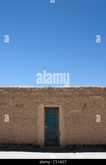 Door in wall - Stock Image