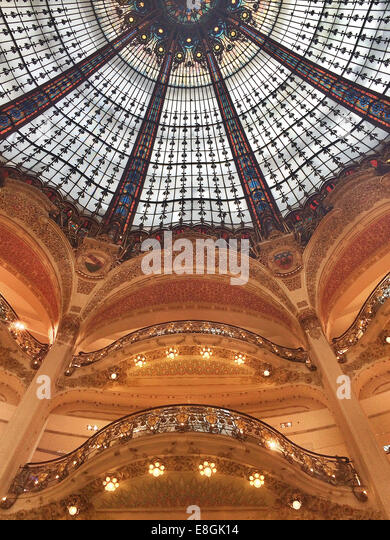 France, Paris,  Galeries Lafayette - Stock Image