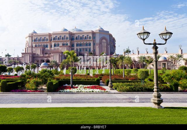 Emirates Palace Hotel, Abu Dhabi, UAE - Stock Image