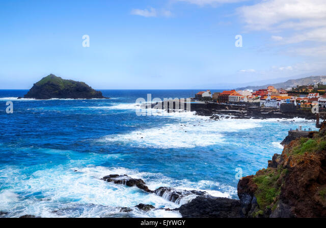 Garachico, Tenerife, Canary Islands, Spain - Stock-Bilder