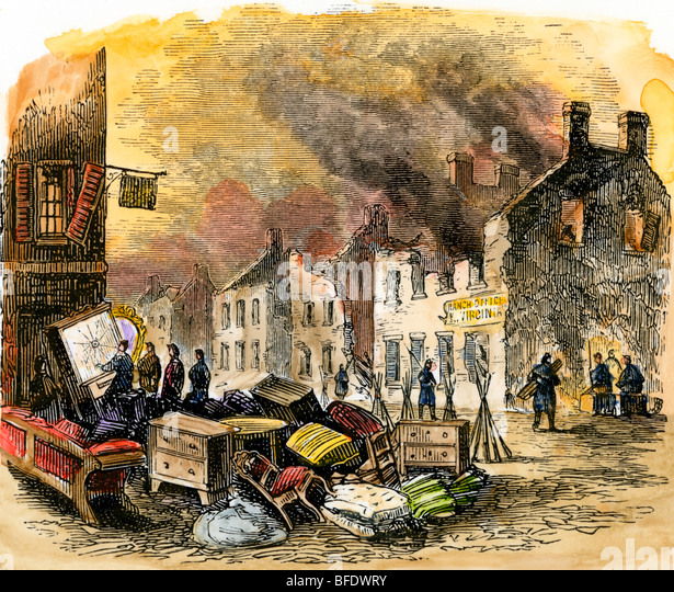 Fredericksburg, Virginia, after the siege and battle - Stock Image