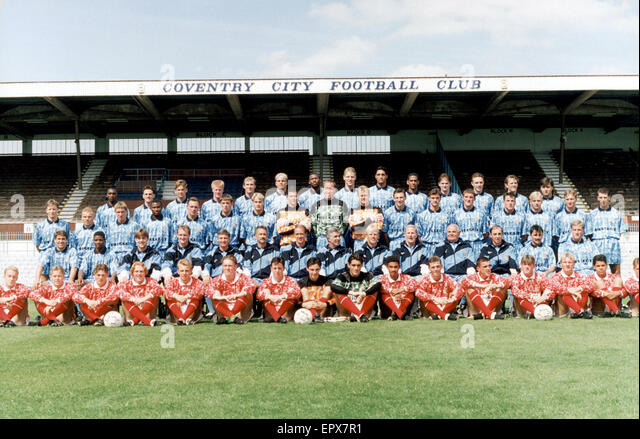 Coventry City FC, Photo-call, 10th August 1992. Highfield Road. 1992 / 1993 Season. - Stock Image