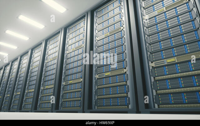 Computer server room, illustration. - Stock-Bilder