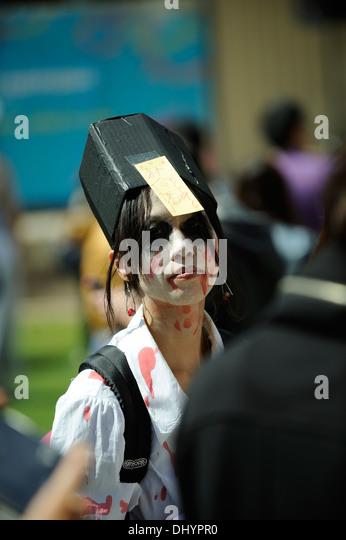 Zombie in the inaugural Zombie Walk, Perth, Western Australia - Stock Image