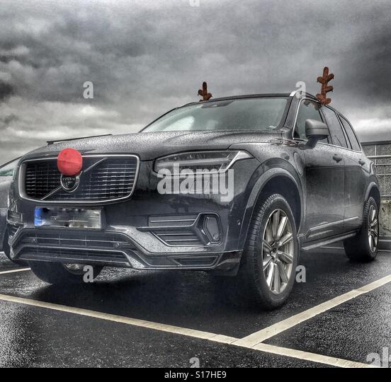Santas car - Stock Image