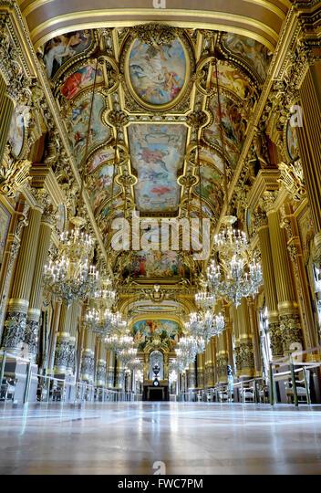 Grand Foyer Opéra National de Paris Garnier, Paris, France. - Stock Image