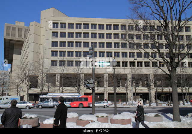 Washington DC Pennsylvania Avenue NW Department of Justice FBI Headquarters J. Edgar Hoover Building government - Stock Image