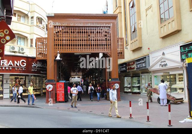 Dubai, Gold souk, Gold souks, city of Gold, Dubai, United Arab Emirates - Stock Image