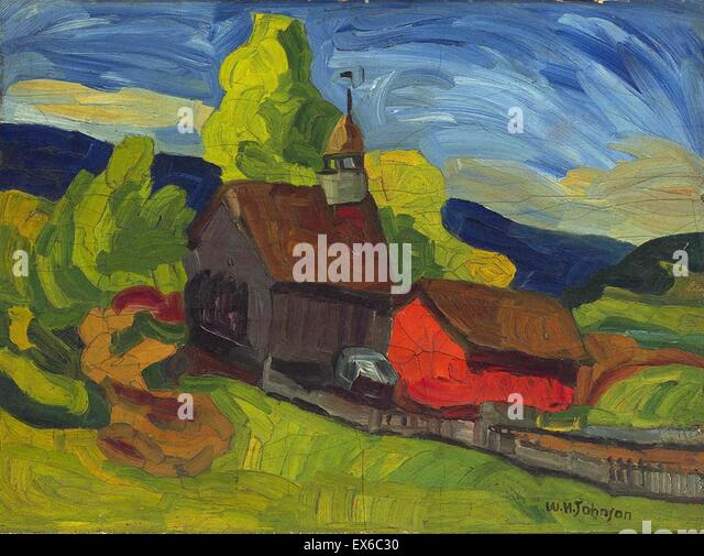 William H. Johnson  Church in the Country - Stock Image