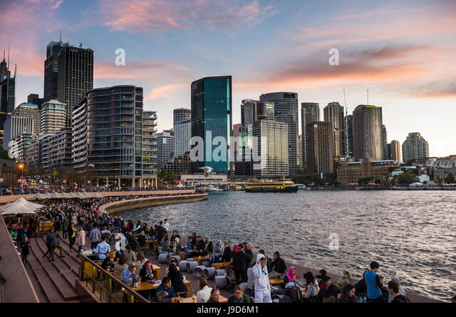 Sydney Harbour after sunset, Sydney, New South Wales, Australia, Pacific - Stock-Bilder