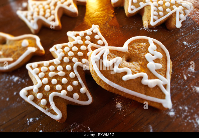 Traditional spicy Christmas biscuits - Hungarian - Stock-Bilder