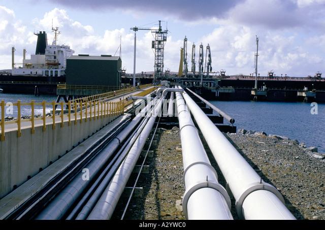 oil pipeline in shetlands - Stock-Bilder