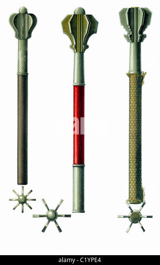 Flanged Maces, Flanged Mace - Stock Image