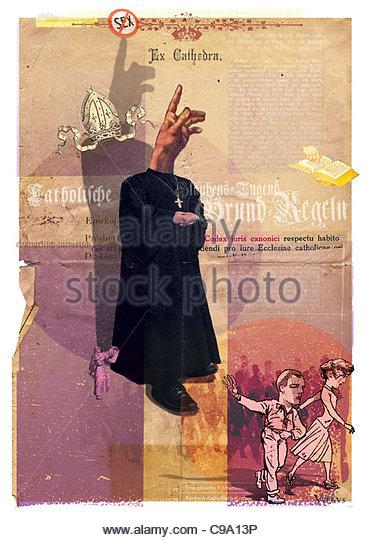 cross Catholic Church emerging church leave - Stock-Bilder