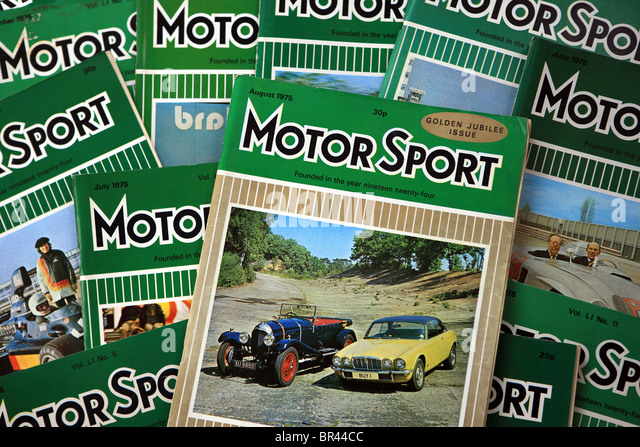 Motor Sport magazines from 1975 - Stock Image