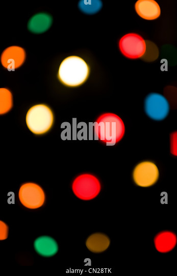 Multicolored electric lights, abstract - Stock Image