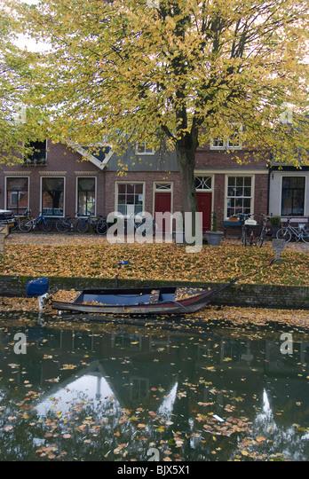 Canalside, Edam, Netherlands - Stock Image