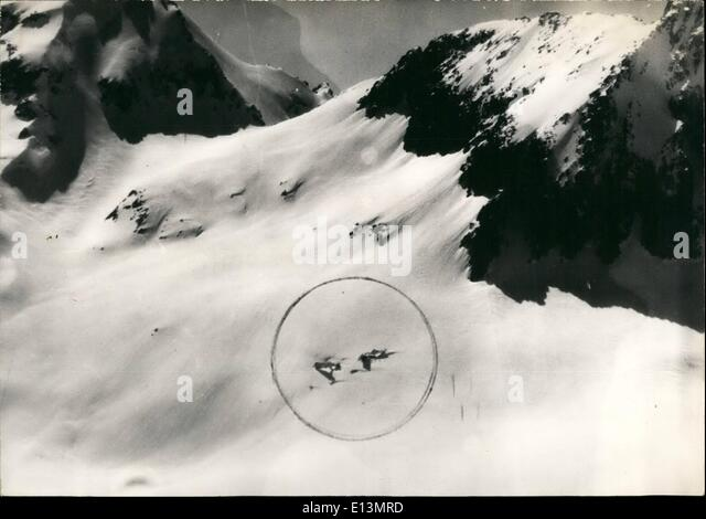 Mar. 22, 2012 - German Army Plane Crashed in Mountains: A German Army plane ''Nordatlas'' which - Stock Image