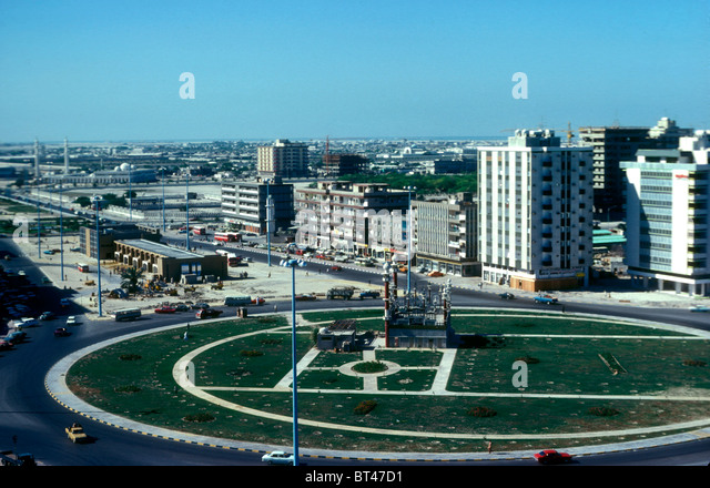 Central Abu Dhabi in 1976, United Arab Emirates - Stock Image