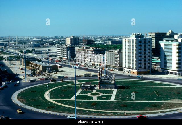 Central Abu Dhabi in 1976, United Arab Emirates - Stock-Bilder