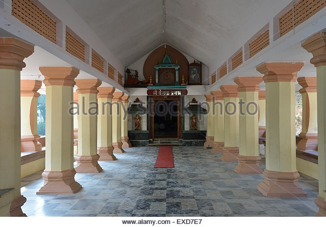 temple, hinduism, india, goa, religion, architecture - Stock Image