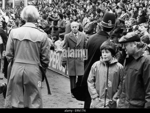 Birmingham City football manager Ron Saunders at St Andrews. April 1983. - Stock Image