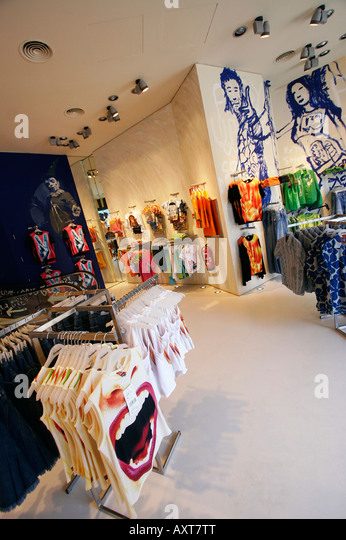 spain Barcelona Passeig de Gracia Desigual fashion store - Stock Image