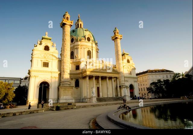 Karlskirche in Vienna - Stock Image