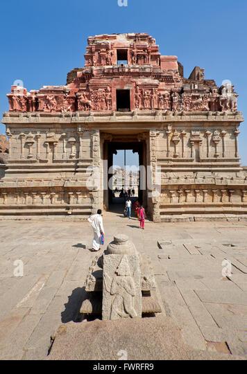Entry gate to Vittala temple. Hampi. Karnataka. India - Stock Image