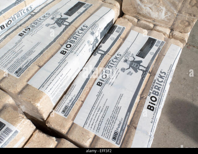 Compressed Wood Logs ~ Fireplaces stock photos images alamy
