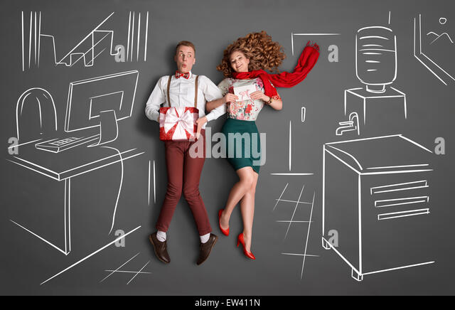 Work romance. - Stock-Bilder