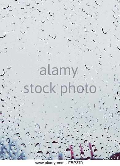 Full Frame Shot Of Wet Glass - Stock-Bilder
