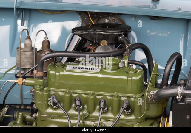 Early 1960s BMC Mini, Morris petrol engine, England, UK - Stock Image