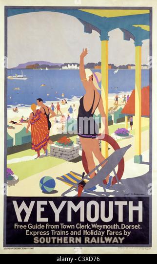 Weymouth, by H.G. Gawthorne. England, early 20th century - Stock-Bilder