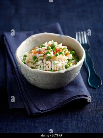 Risotto with peas - Stock Image